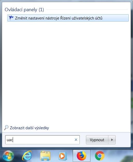 Řízení uživatelských účtů ve Windows 7