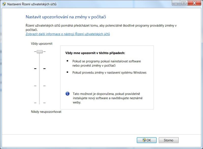 Řízení uživatelských účtů ve Windows 7 - 02