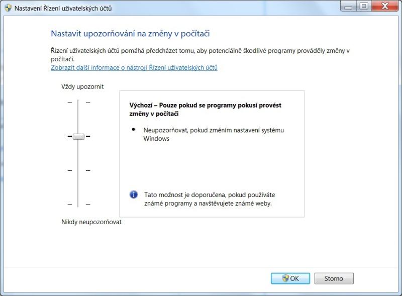 Řízení uživatelských účtů ve Windows 7 - 03