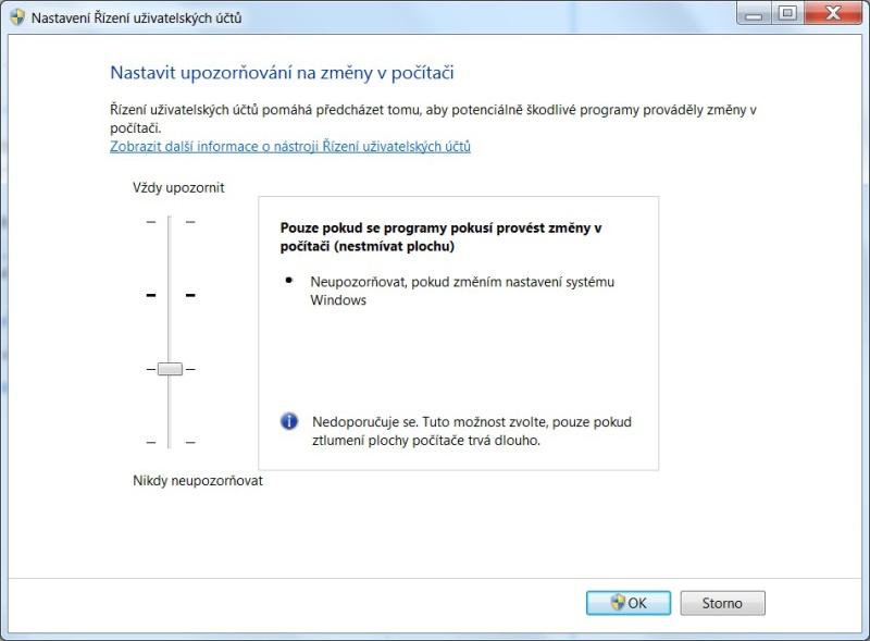 Řízení uživatelských účtů ve Windows 7 - 04