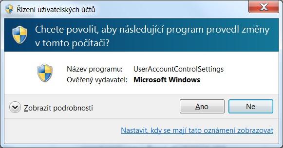 Řízení uživatelských účtů ve Windows 7 - 06