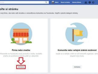 Jak založit firemní Facebook stránku 2