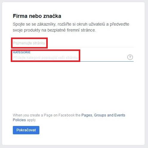 Jak založit firemní Facebook stránku 3