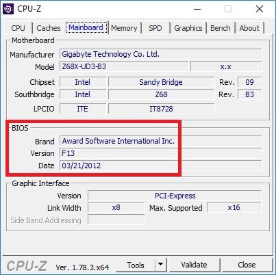 Bios update Gigabyte z68x-ud3-b3 01