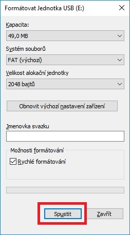 Jak formátovat usb flash disk 2