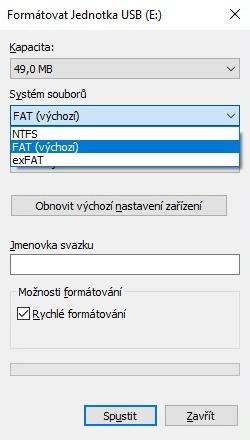 Jak formátovat usb flash disk 3