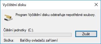 Vyčištění pevného disku ve Windows 10 - 07