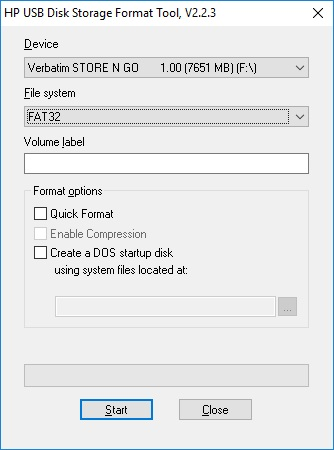 HP USB Disk Storage Format Tool - 2