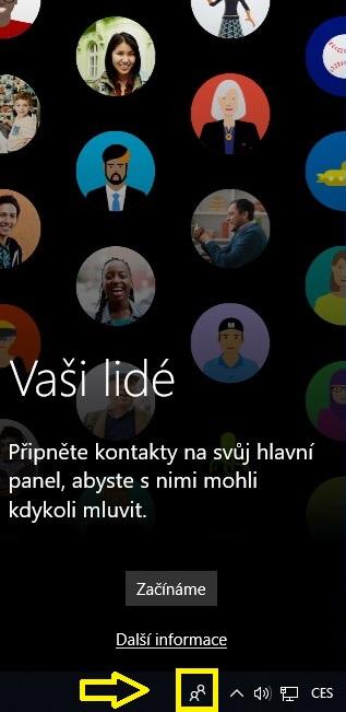 Lidé - ikona, tlačítko ve Windows 10 - 1