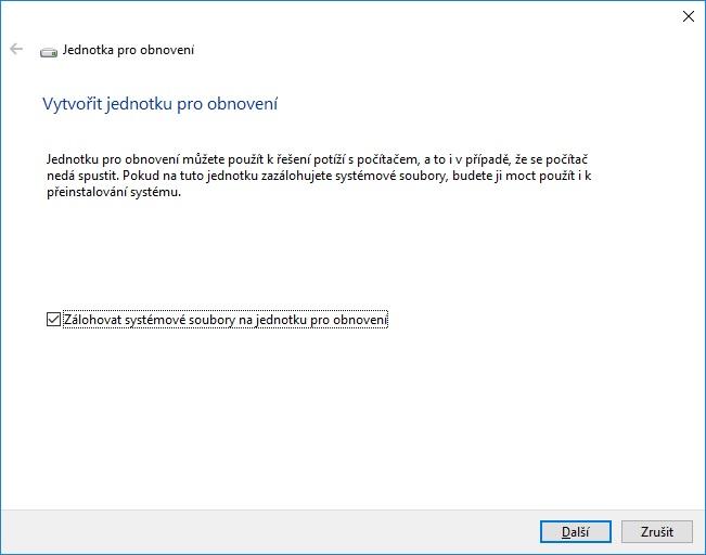 Záchranný disk Windows 10 - 02