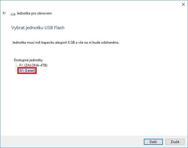 Záchranný disk Windows 10 - 03