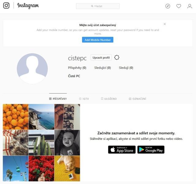 Jak založit Instagram na PC 3