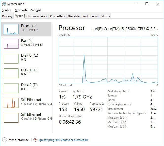 Správce úloh (task manager) Windows 10 - 03