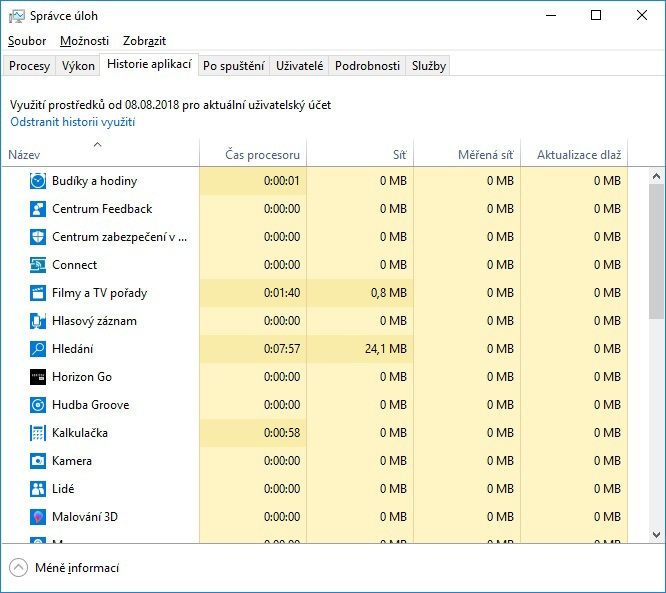 Správce úloh (task manager) Windows 10 - 04