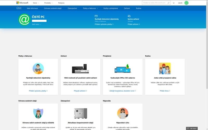 Vytvoření účtu Microsoft 7