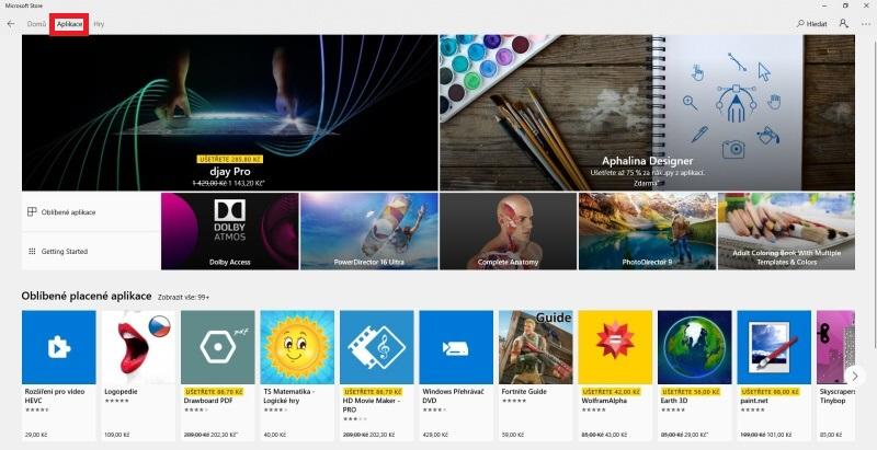 Microsoft Windows Store aplikace 3