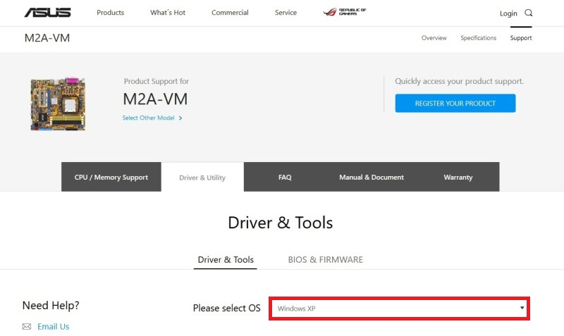 asus m2a-vm drivers 3
