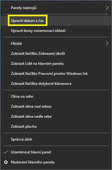Jak nastavit čas na počítači s Windows 10