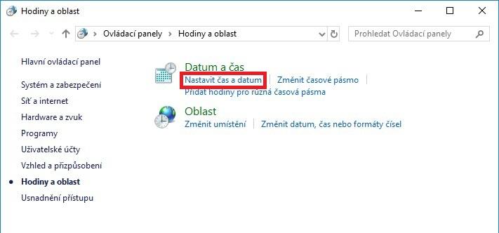 Jak nastavit čas na počítači s Windows 10 - 3