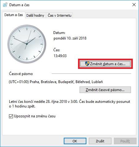 Jak nastavit čas na počítači s Windows 10 - 4