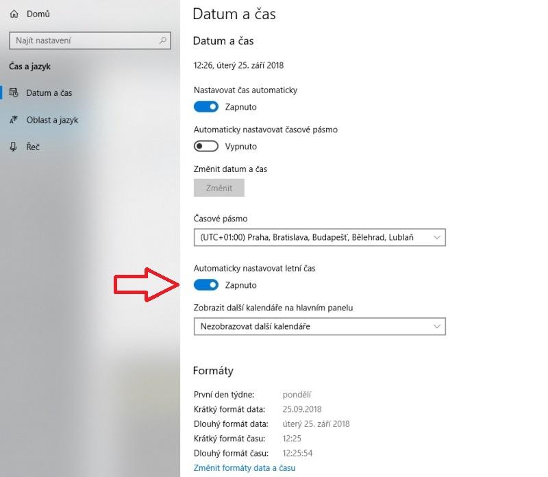 Jak nastavit čas na počítači s Windows 10 - 8