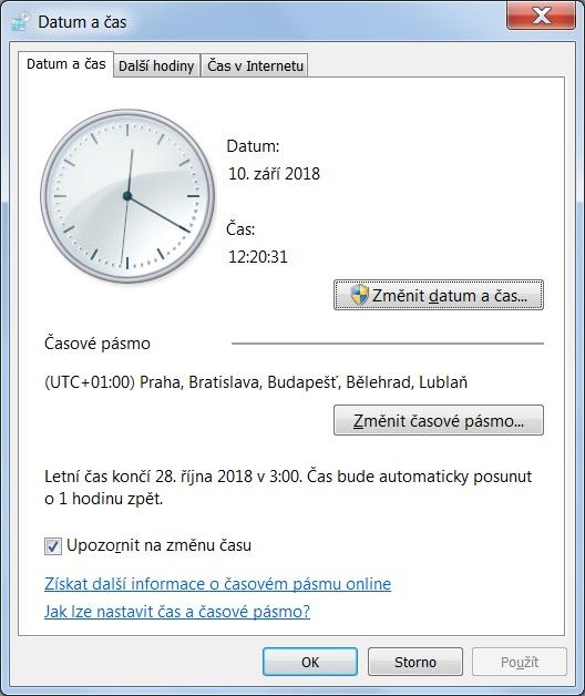 Jak nastavit čas na počítači s Windows 7 - 2