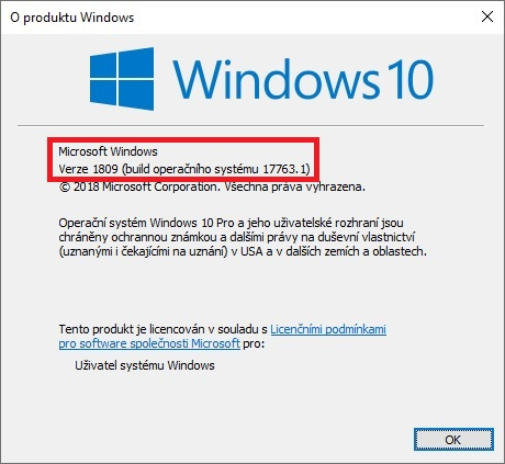 Windows 10 october update 1809