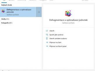 Defragmentace disku Windows 10 - 1