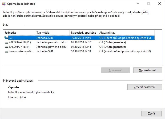 Defragmentace disku Windows 10 - 3