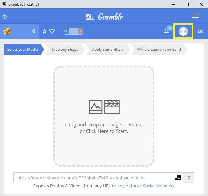 Gramblr - jak nahrát fotku a video na Instagram z pc 03