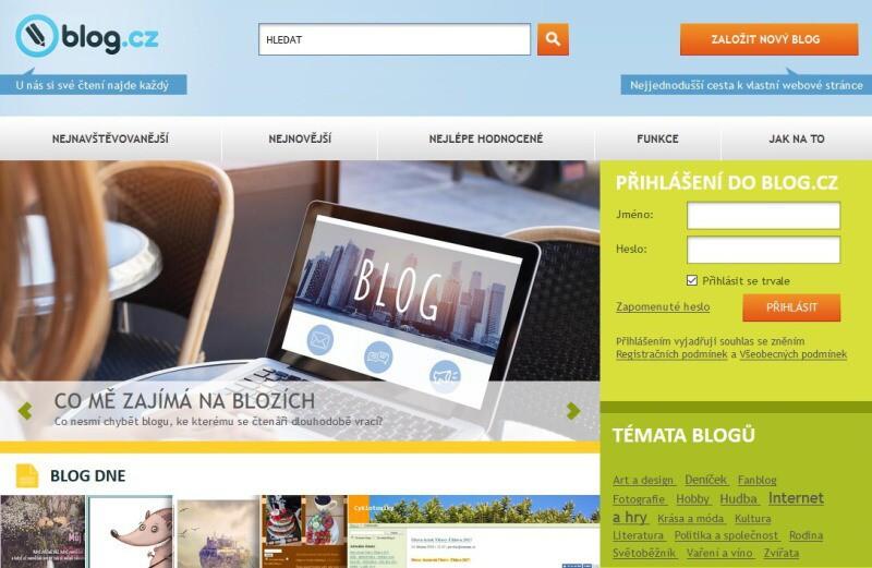 Blog - internetové stránky zadarmo