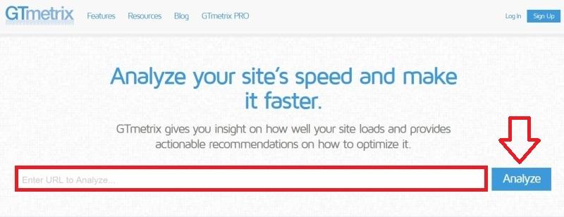 GTmetrix - rychlost webu měření