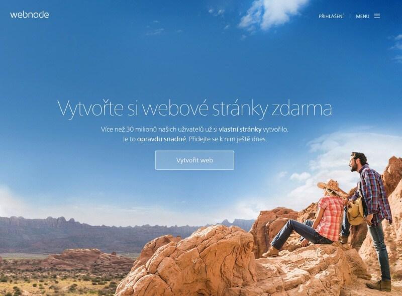 Webnode - webové stránky zdarma