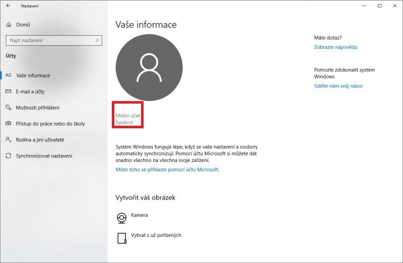 Jak se přihlásit jako administrátor Windows 10 - 2