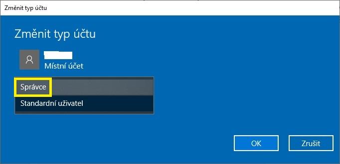 Jak se přihlásit jako administrátor Windows 10 - 6