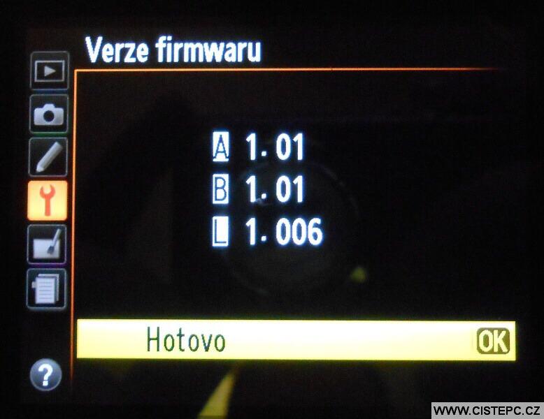 Nikon D5100 firmware update 3
