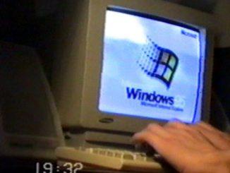 Starý počítač Windows 95