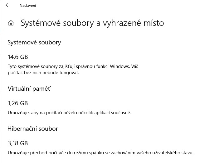 Využití úložiště - co zabírá nejvíc místa na disku ve Windows 10 - 4