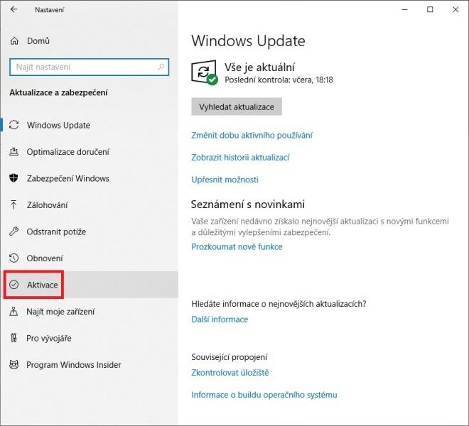 aktivace windows 10 - 2