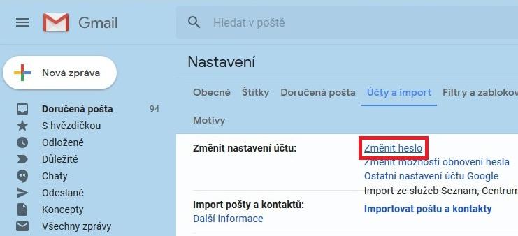gmail změna hesla 02