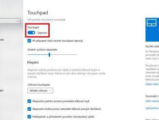 Jak vypnout touchpad u notebooku