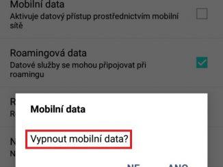 Mobilní data v telefonu 4