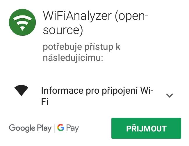 Wi-fi analyzer aplikace do mobilu android 2