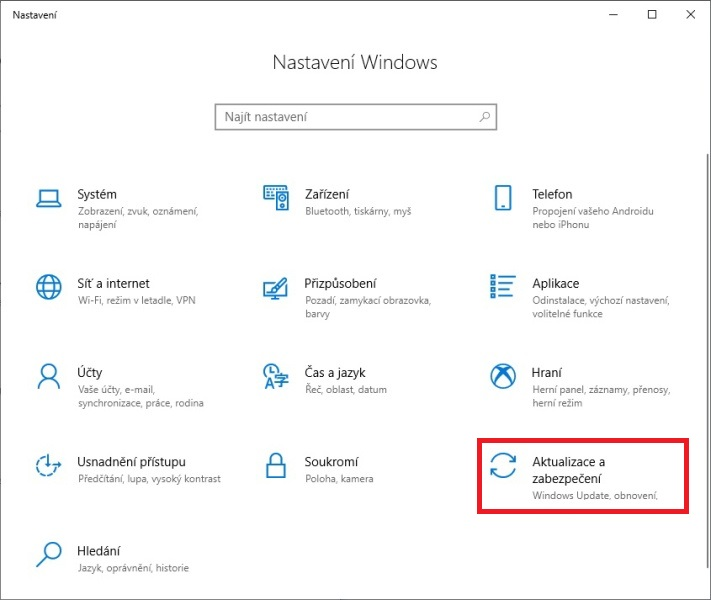 Zálohování Windows 10