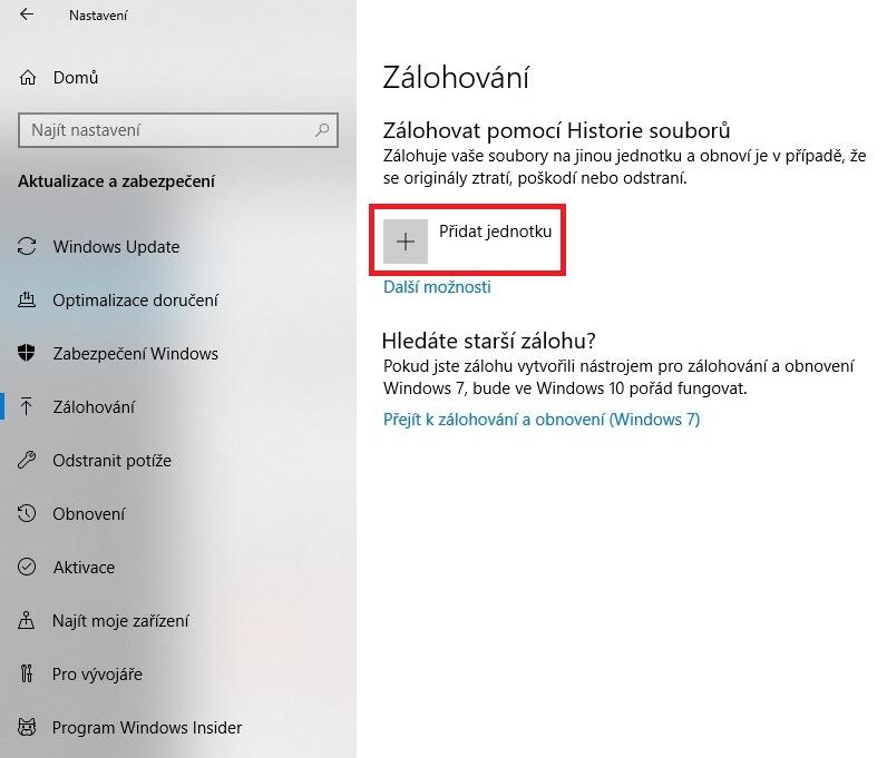 Zálohování Windows 10 - 22