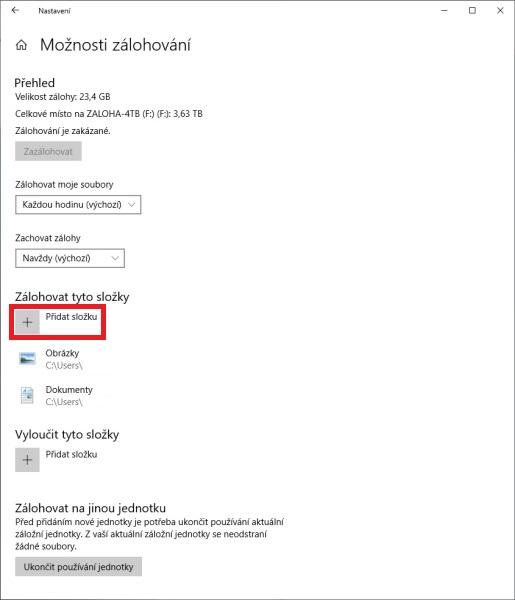 Zálohování Windows 10 - 4
