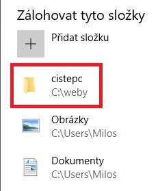 Zálohování Windows 10 - 7