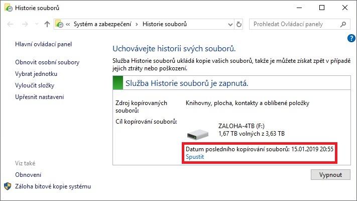 Zálohování Windows 10 - 9