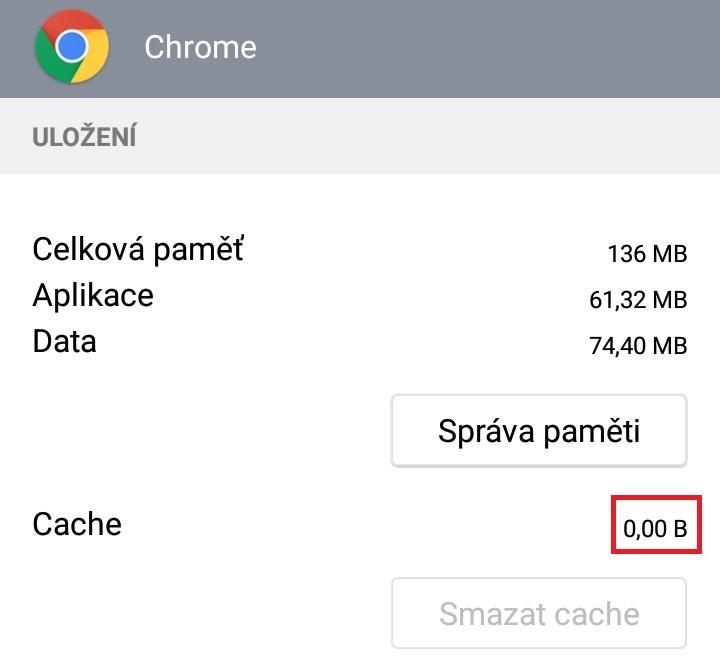 Jak smazat cache v telefonu android 7