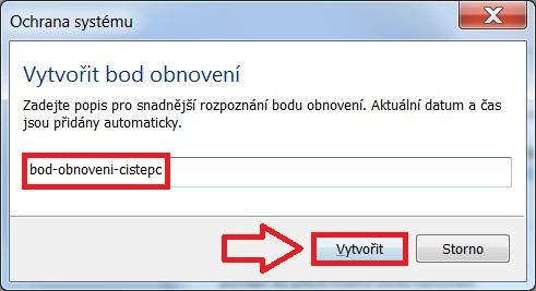 Jak vytvořit bod obnovení ve Windows 7 - 3